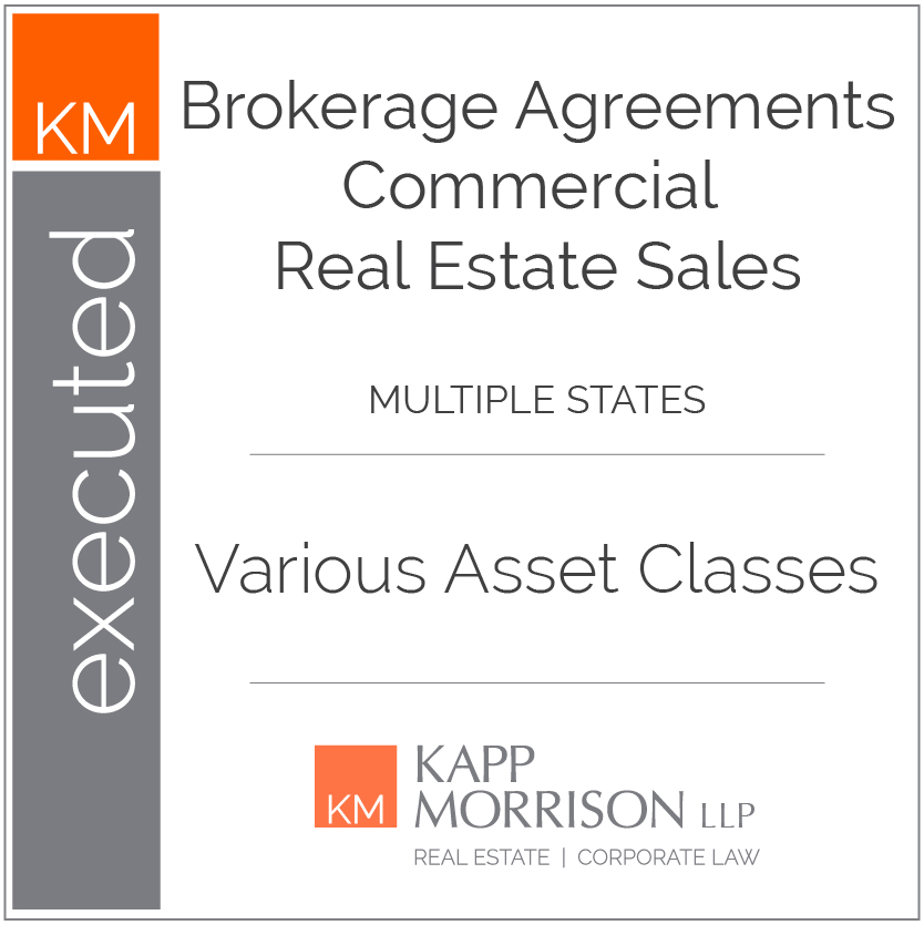 Kapp Morrison LLP Law Firm Boca Raton, executed brokerage agreements commercial real estate sales