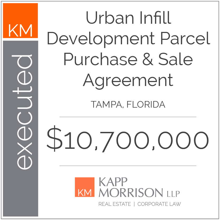 Kapp Morrison LLP Law Firm Boca Raton, executed purchase and sale agreement, tampa florida