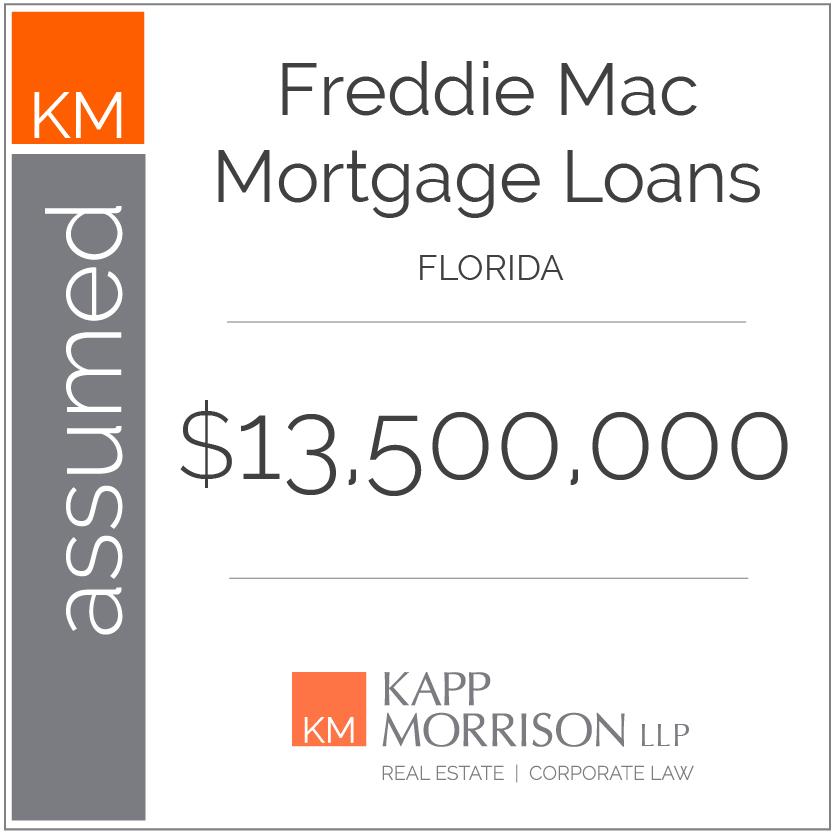 Kapp Morrison LLP Law Firm Boca Raton, assumed mortgage loans, Florida $13,500,000